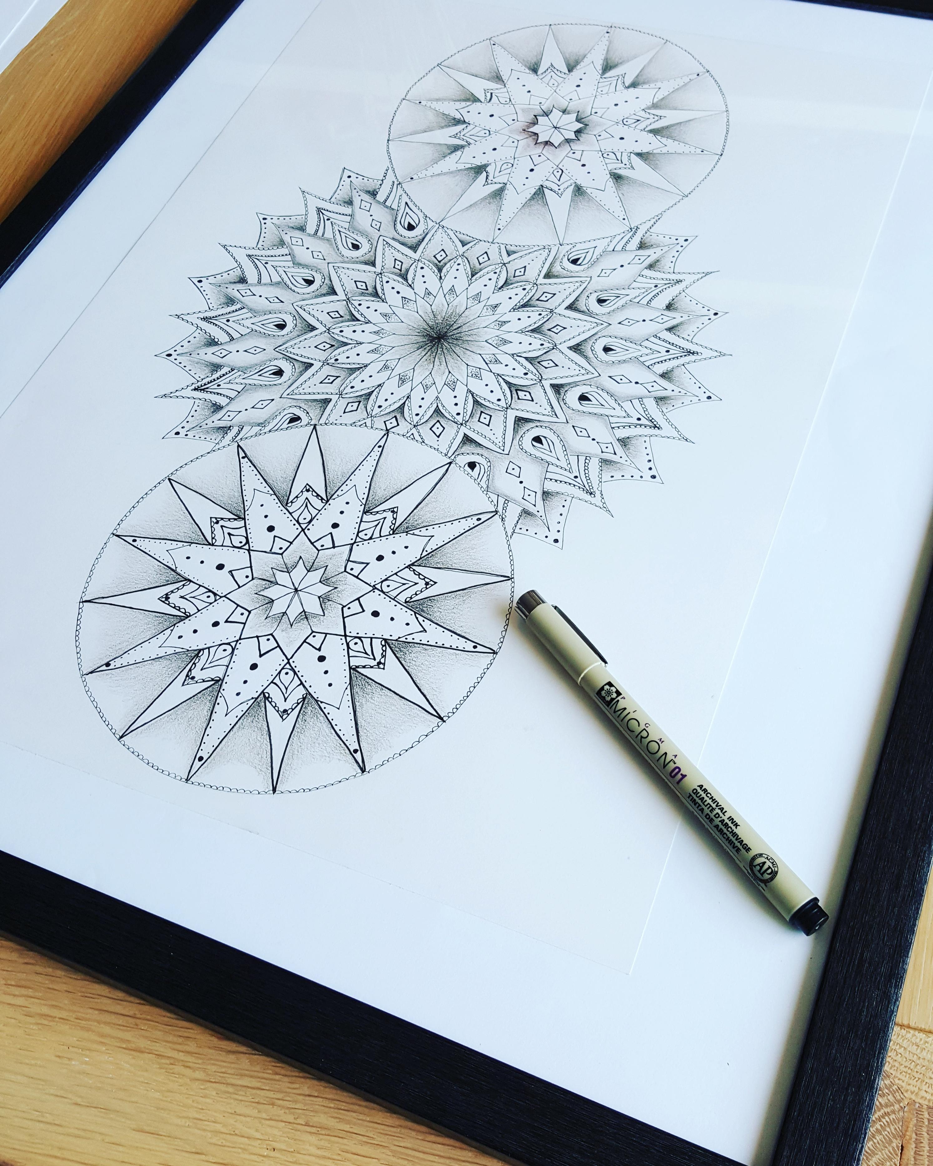 mandala tekening